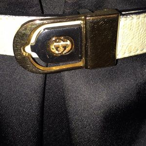 Vintage Gucci belt buckle with Simon leather belt
